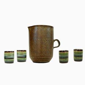 Jarra y cuatro vasos de Bücking-Börnsen, años 60