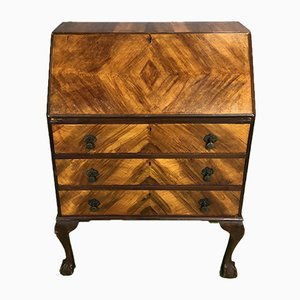 Chippendale Secretaire in Walnut, 1930s