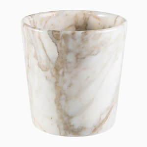Runde Edge Vase aus Paonazzo Marmor von FiammettaV Home Collection