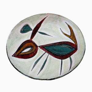 Studio Ceramics Wall Plate by Jacques Poussine, 1950s
