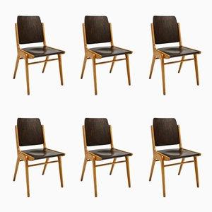 Mid-Century Esszimmerstühle von Franz Schuster für Wiesner-Hager, 6er Set