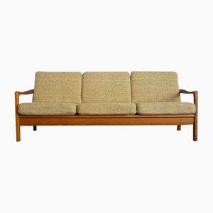 Sofá cama de teca de Juul Kristensen, años 60