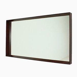 Espejo de pared danés rectangular, años 60