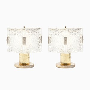 Vintage Lamps by Kamenický Šenov, Set of 2