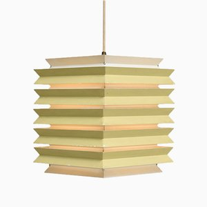 Danish Square Pendant Lamp from Lyfa, 1960s