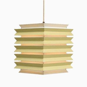 Lámpara colgante danesa cuadrada de Lyfa, años 60