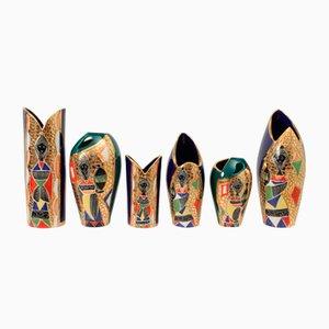 Vases de Fiamma, 1950s, set de 6