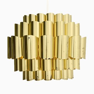 Large Brass Pendant Lamp by Thorsten Orrling for Hans-Agne Jakobsson, 1960s