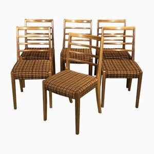 Teak Stühle, 1970er, 6er Set