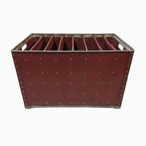 Industrielle vintage Akten Kiste aus gewachstem Karton von Suroy