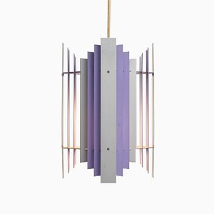 Lampada a sospensione lilla di Preben Dal per HF Belysning, anni '60