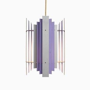 Lámpara colgante Lilac danesa de Preben Dal para HF Belysning, años 50