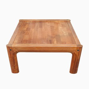 Danish Teak Inlaid Square Coffee Table, 1960s