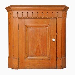 Antiker viktorianischer Tellerwärmer Schrank aus Pinienholz