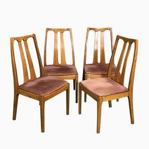 Sedie da pranzo in teak, anni '70, set di 4