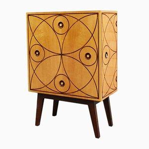 Mueble de madera con incrustaciones de Mino Lusignoli, 1948