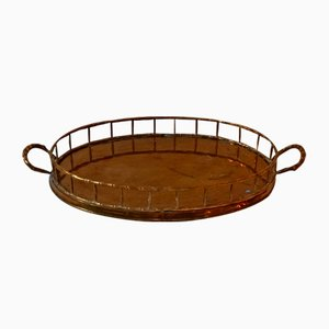 Vintage Faux Bamboo Tray from Maison Jansen