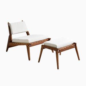 Chaise de Chasse & Ottomane, 1950s