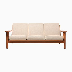 Teak GE 290 3-Seater Sofa by Hans J. Wegner for Getama, 1950s