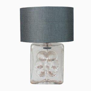 Floraler Lampen Sockel aus strukturiertem Glas