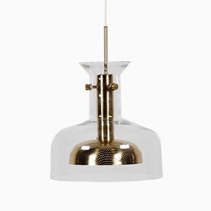 Vintage Glass Pendant Light by Anders Pehrson for Ateljé Lyktan