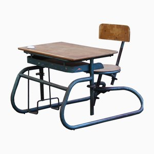 Vintage Industrial School Desk, 1950s