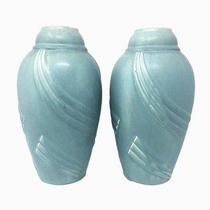 Vases Art Deco Céramique, France, 1930s, Set de 2