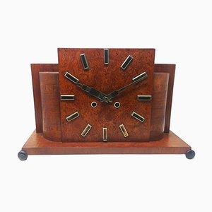 Horloge de Table Art Déco en Bruyère, France, 1930s