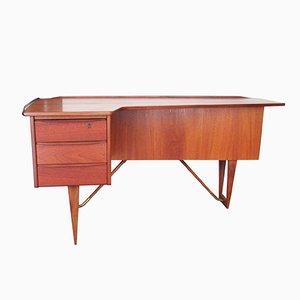 Teak Boomerang Desk by Peter Løvig Nielsen, 1960s