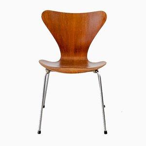 Sedia nr. 3107 vintage dalla serie nr. 7 di Arne Jacobsen per Fritz Hansen