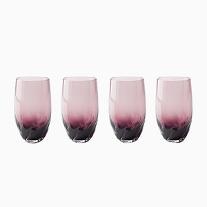 Dattero Amethyst Glasses by Stories of Italy, Set of 4