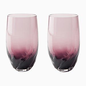 Dattero Amethyst Glasses by Stories of Italy, Set of 2