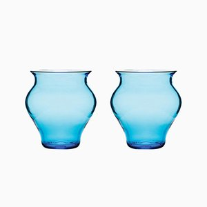 Verres Anfora Aquamarine par Stories de Italy, Set de 2