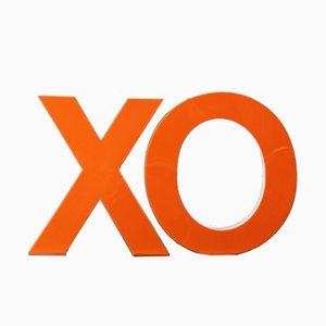 Mid-Century Illuminated Kisses & Hugs XO Letters