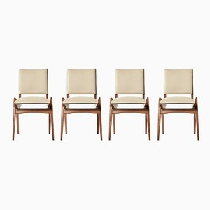 French Dining Chairs by Maurice Pré, 1950s, Set of 4