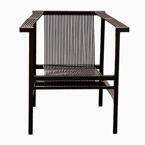 Sedia con schienale a stecche di Ruud Jan Kokke, anni '80