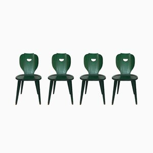 Mid-Century Swedish Pine Chairs by Carl Malmsten for Svensk Fur, Set of 4