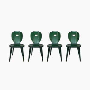 Schwedische Mid-Century Kiefernholz Stühle von Carl Malmsten für Svensk Fur, 4er Set