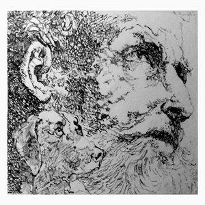 Filippo Mattarozzi, Bossi-Parmigianino, Bleistift und Tusche, Gravur Zeichnung