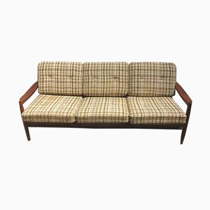 Mid-Century 3-Seater Sofa in Teak