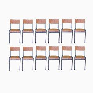 Chaises Industrielles, 1960s, Set de 12