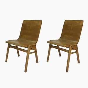 Vintage Schichtholz Stühle von Roland Rainer, 2er Set