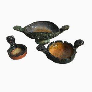 Set di ceramiche di Fanciullacci, 1973, set di 3