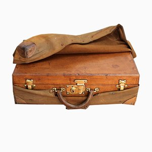 Valigia antica in pelle di Louis Vuitton