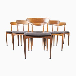 Teak Dining Chairs by Johannes Andersen for Uldum Møbelfabrik, Set of 6