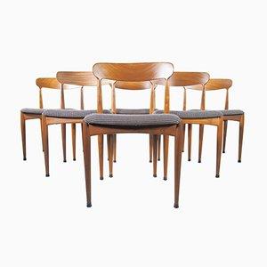 Teak Esszimmerstühle von Johannes Andersen für Uldum Møbelfabrik, 6er Set