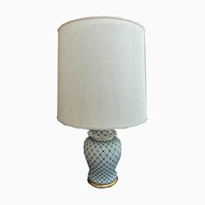 Lámpara de mesa italiana vintage de cerámica, años 80