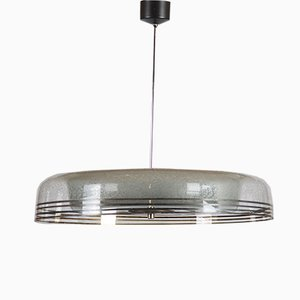 Mid-Century Czech Glass Pendant Light from Napako, 1950s