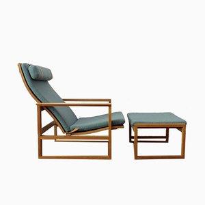 Vintage Sessel Modell 2254 & Ottomane von Børge Mogensen für Fredericia