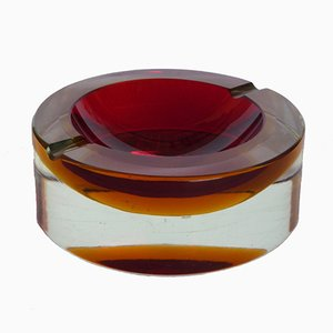 Cenicero italiano vintage de cristal de Murano de Flavio Poli para Seguso